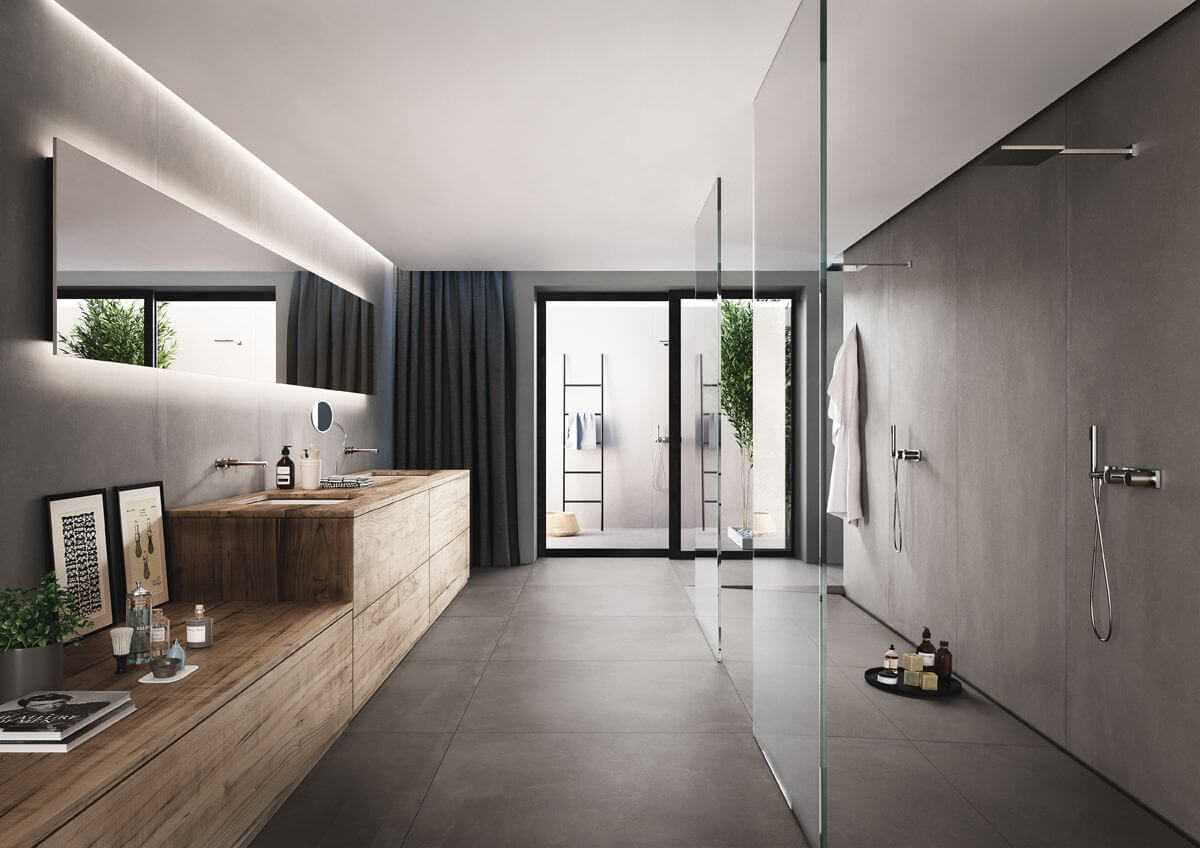 Badkamer Modern Klein : Badkamertegels klein naturel én modern gilbo tegels