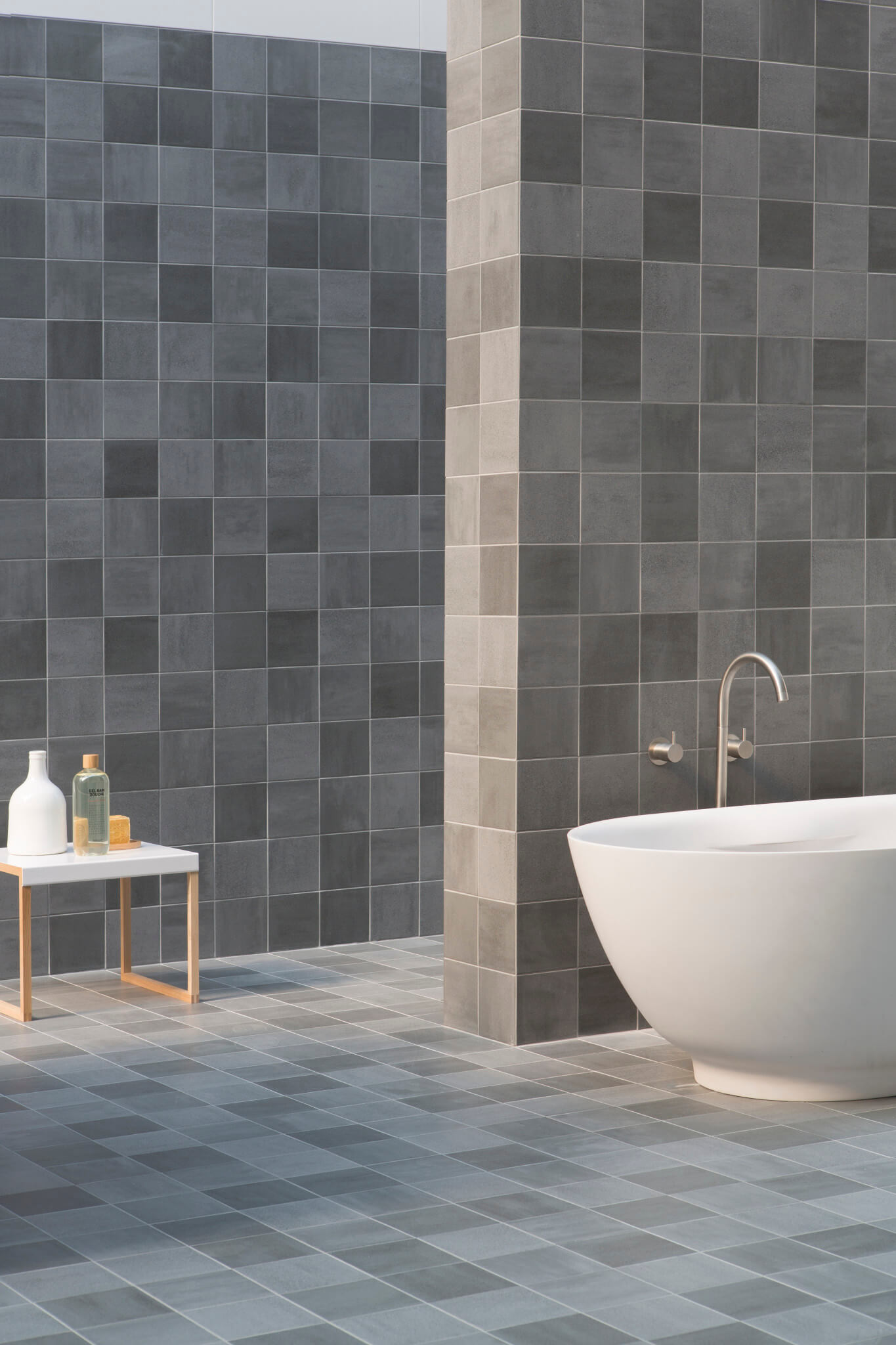 Badkamertegels klein naturel én modern