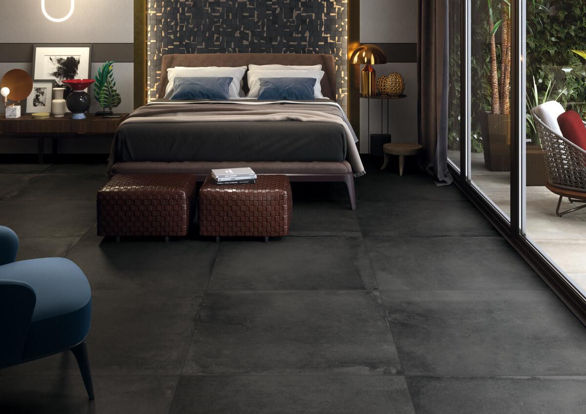 Donkere vloertegel in cotto stijl voor binnen en buiten