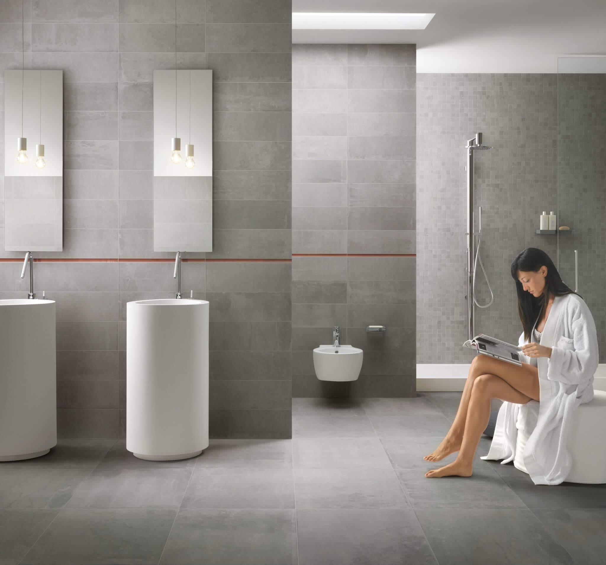Grijze badkamertegels voor een echt wellnessgevoel!
