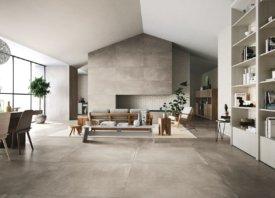 Grootformaattegel betonlook voor strak interieur