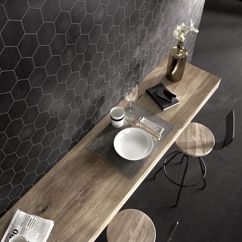 Hexagon tegels voor de keuken, weer helemaal in