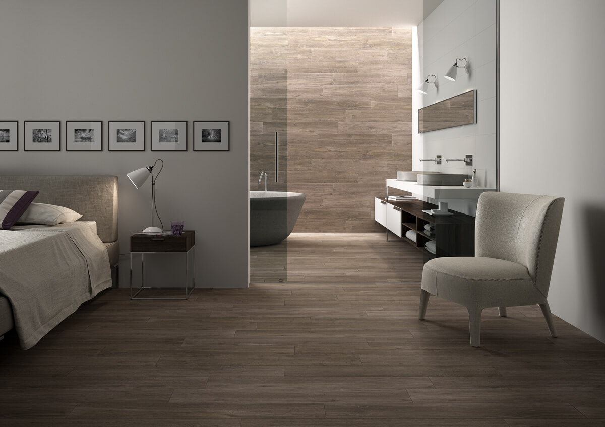 Houtlook tegels voor vloer én wand: charmant en praktisch