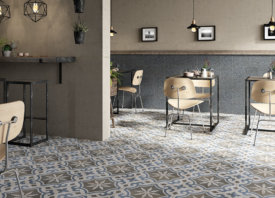 Keramische tegels met patroon: vintage sfeer