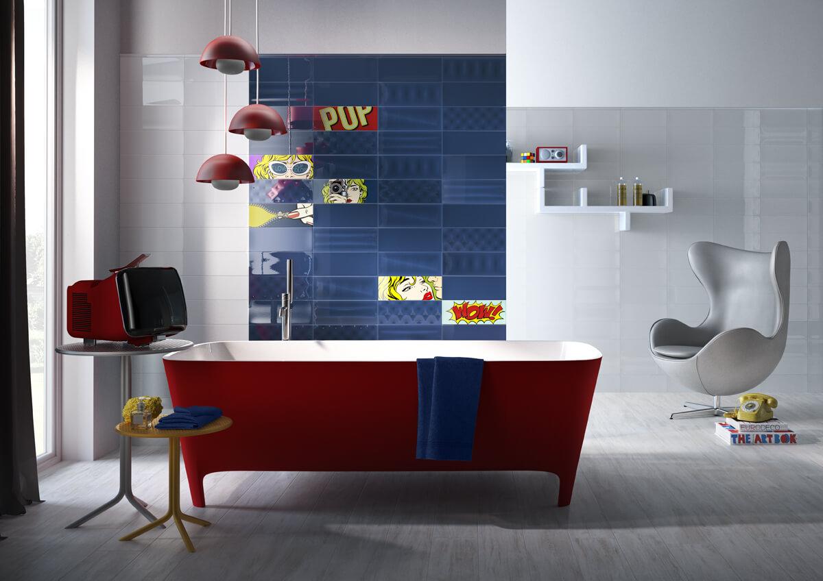 Badkamer Tegels Kleuren : Kies voor badkamertegels met kleur en start je dag fris en monter
