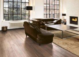 Kies voor warme kleuren met deze bruine keramische parket