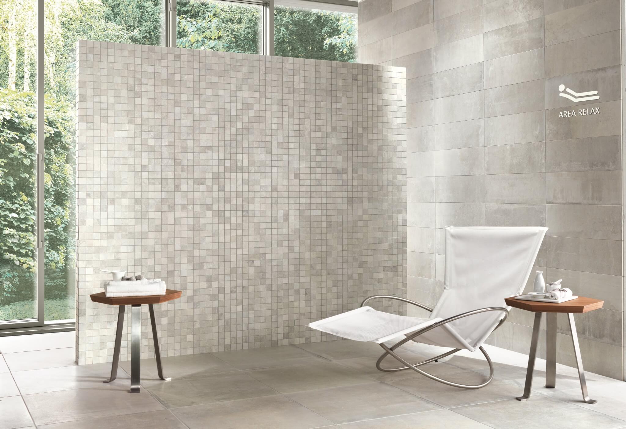 Beige mozaïek voor een luxueuze badkamer - Gilbo tegels