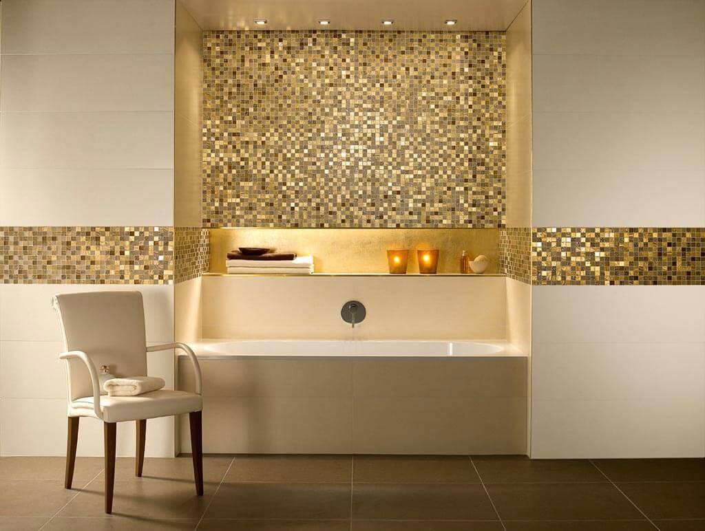 Mozaiek Badkamer Tegels : Beige mozaïek voor een luxueuze badkamer gilbo tegels
