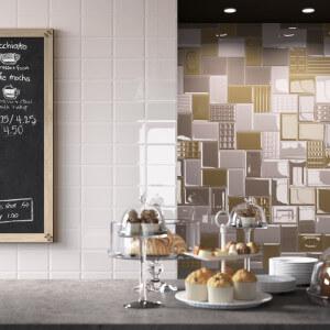 Retro wandtegels keuken in verschillende kleuren