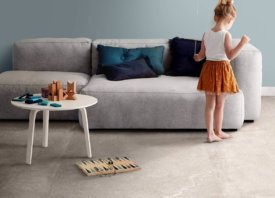 Strakke mix van beton en natural stone